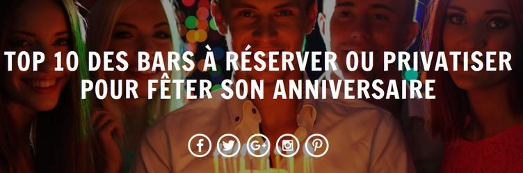 liste des meilleurs bar anniversaire à Paris